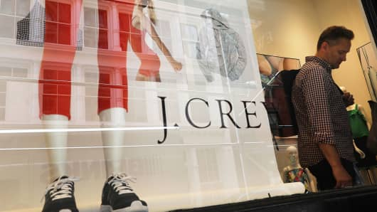 A J. Crew store in New York City.