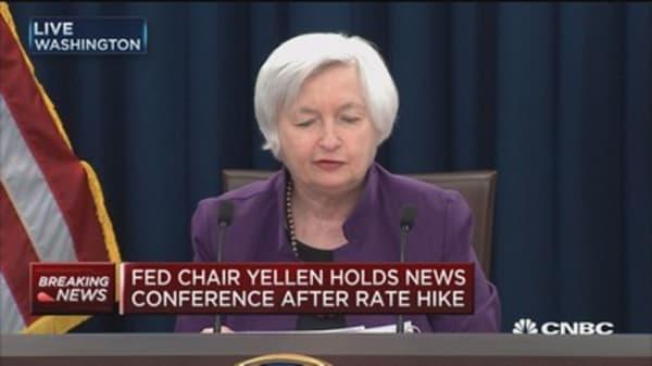 Yellen: Decision to hike reflects economic progress