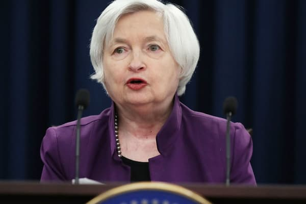Federal Reserve Board Chairwoman Janet Yellen speaks during a news conference following a meeting of the Federal Open Market Committee June 14, 2017 in Washington, DC.
