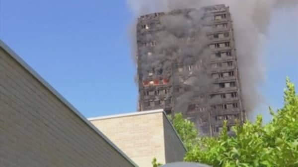 London fire rages through tower block