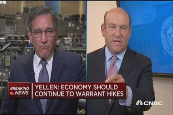 The reaction in market place was due to data: Santelli