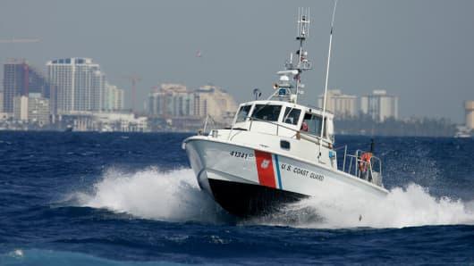 A file photo of a U.S. Coast Guard boat.