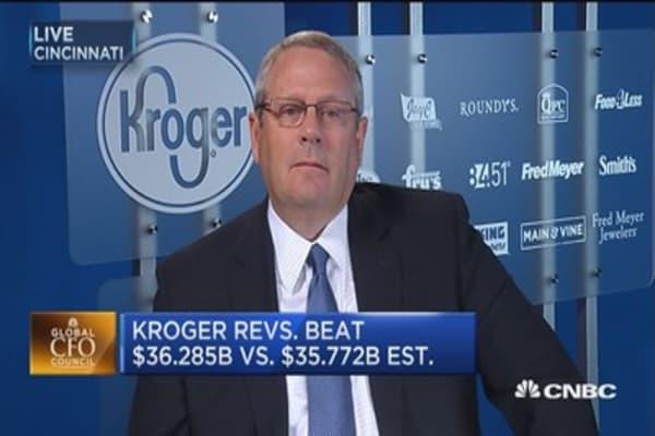 Kroger CFO: Quarter impacted by deflation on top of deflation
