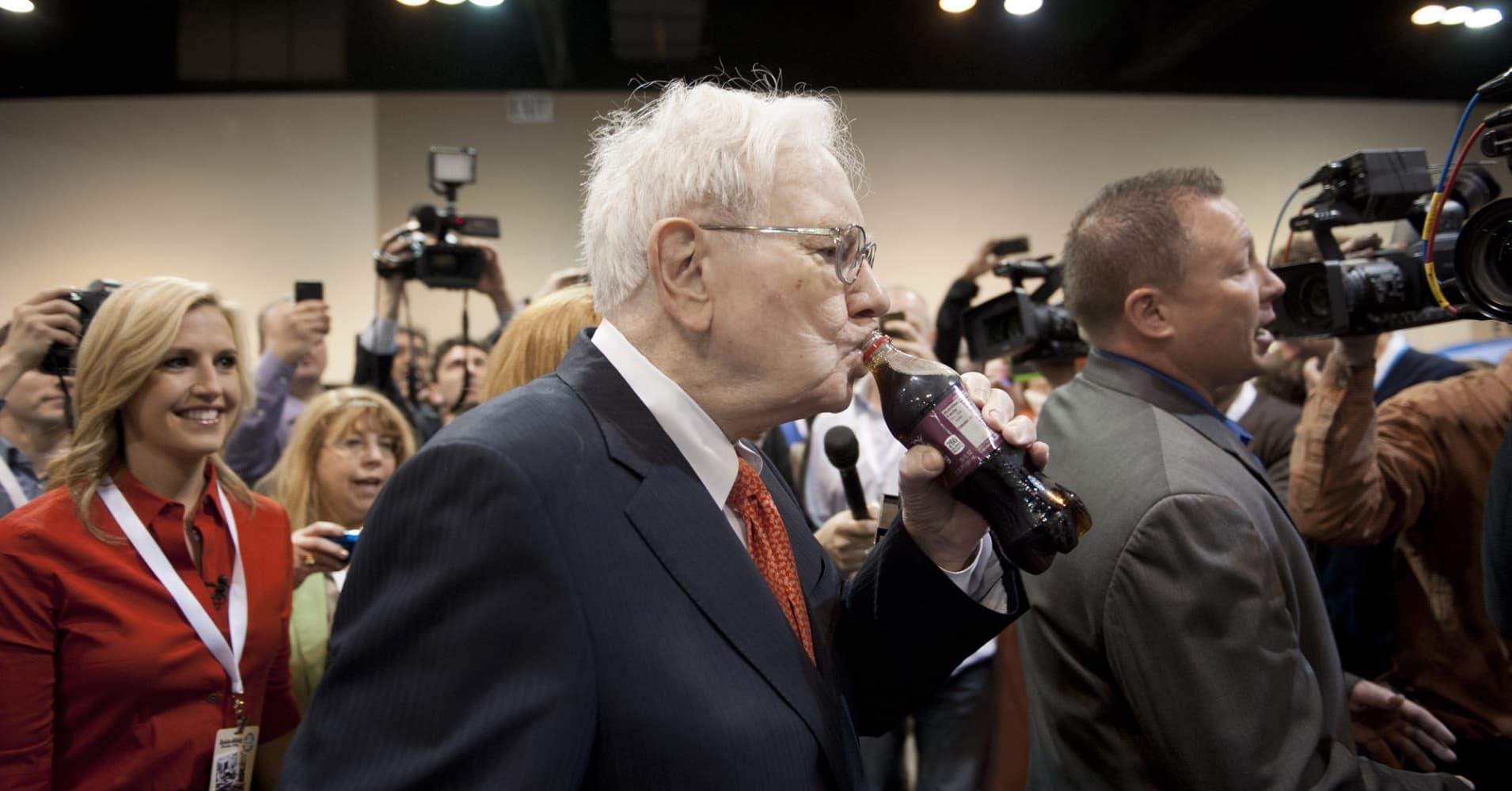 Billionaire Warren Buffett says he drinks five Cokes a day.