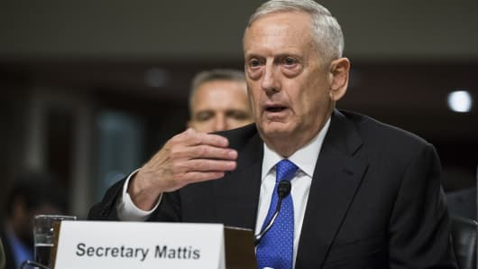 Mattis presses China on North Korea, South China Sea