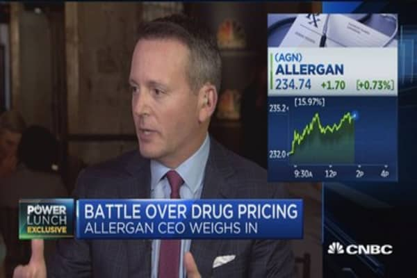 Allergan CEO on the battle over drug pricing