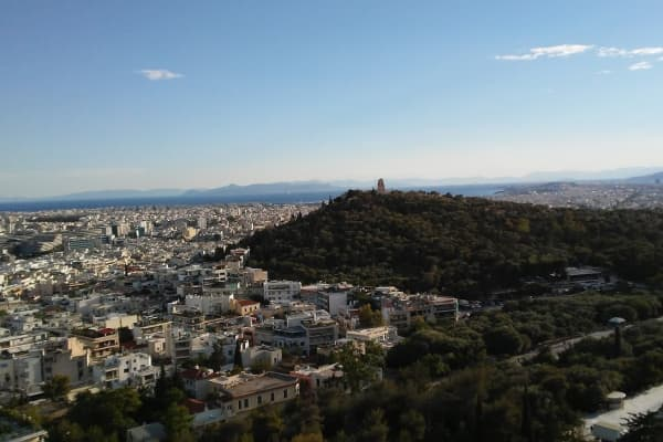 View of Athens from the Parthenon. Courtesy of the author.