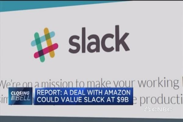 Report: A deal with Amazon could value Slack at $9B