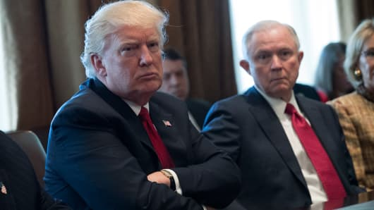 President Donald Trump and Attorney General Jeff Sessions.