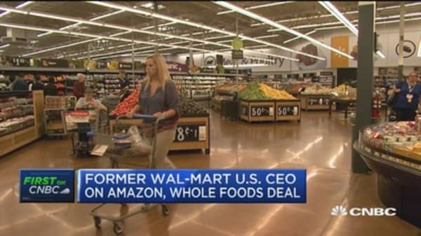 Amazon-Whole Foods deal won't have much of an impact on Wal-Mart: Former Wal-Mart CEO