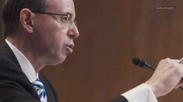Deputy AG Rosenstein reportedly said he may have to recuse himself from Russia investigation