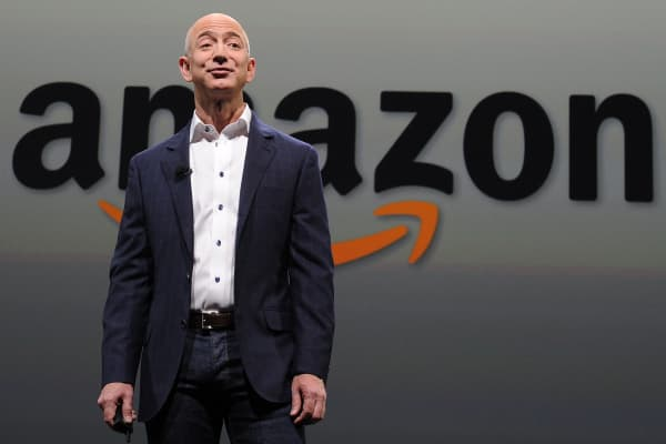 Jeff Bezos CEO of Amazon.