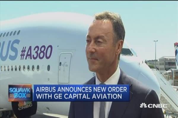 Airbus CEO announces new order with GE Capital Aviation