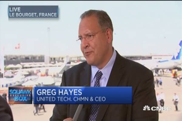 UTX CEO: Military orders great for business