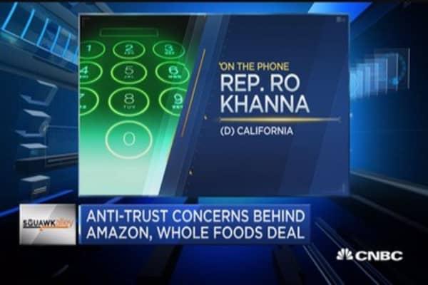 Rep. Kohanna: Antitrust concerns for Amazon-Whole Foods deal