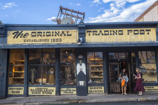 The Original Trading Post, downtown Santa Fe, New Mexico, selling souvenirs.