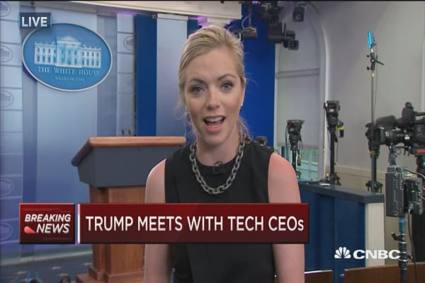 Here's what President Trump and the world's tech leaders discussed today in Washington