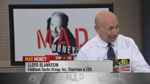 GS CEO Blankfein: Economy 'pretty good'