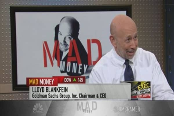 GS CEO Blankfein: Economy 'pretty good'