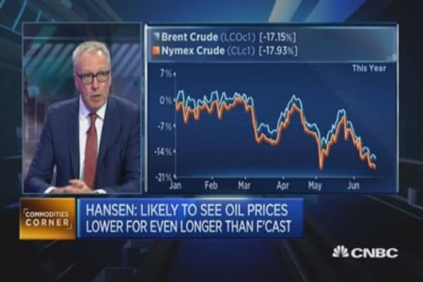 Oil prices: We're 'getting close to the lows'