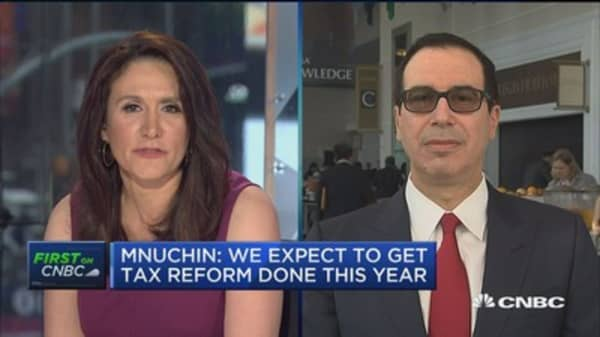 Treasury Secretary Mnuchin says Amazon's Bezos has 'really good' ideas for the administration