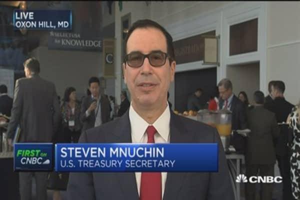 Treasury Secretary Mnuchin says Fed doing the right thing by winding down its balance sheet