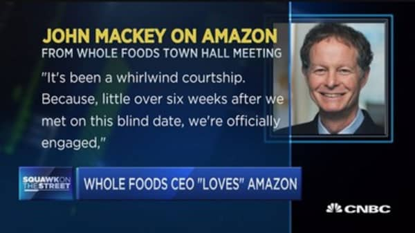 It was 'love at first sight' with Amazon: Whole Foods CEO