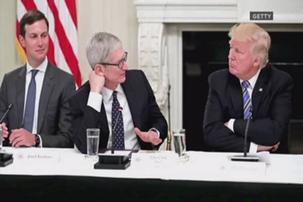 Tim Cook told Trump tech employees are 'nervous' about immigration