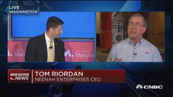 Tax reform can drive performance, job growth: Tom Riordan