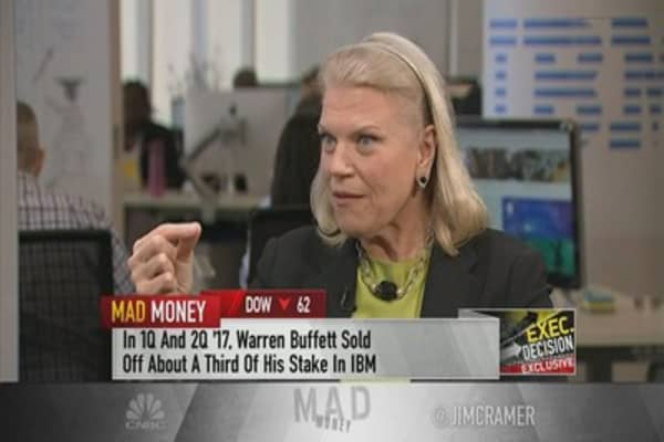 Rometty on Warren Buffett selling IBM shares