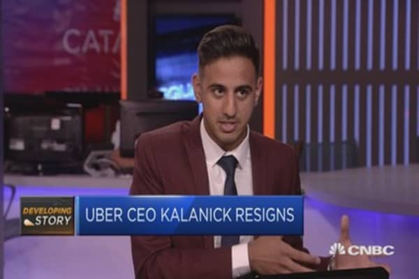 The mounting pressure on Uber's Kalanick to resign