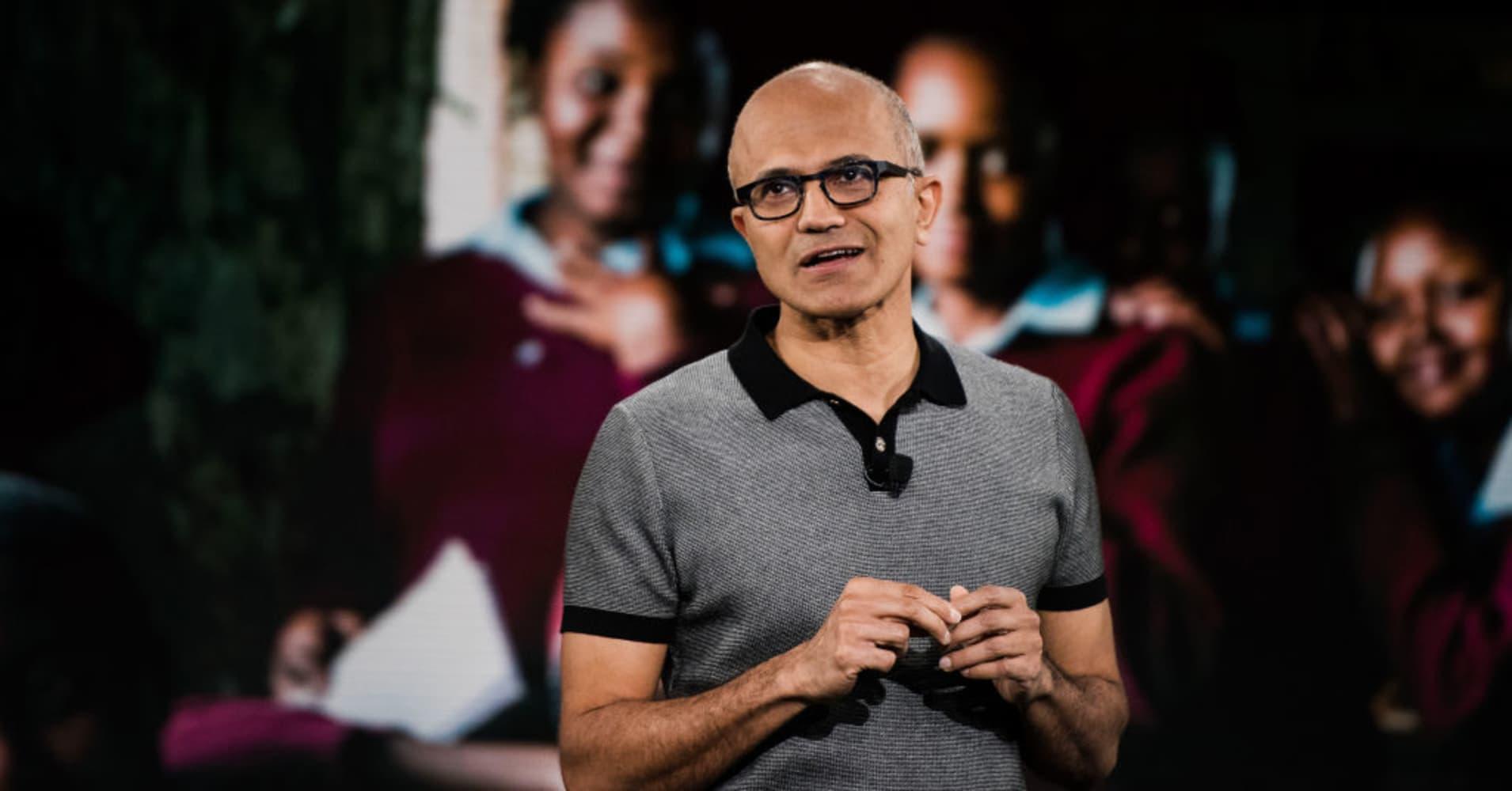 Satya Nadella, chief executive officer of Microsoft Corp