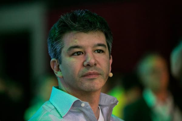 Travis Kalanick, billionaire and chief executive officer of Uber Technologies Inc., looks on during the Noah technology conference in Berlin, Germany, on Wednesday, June 8, 2016.