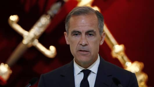 The Governor of the Bank of England, Mark Carney, delivers a speech to the Bankers and Merchants at The Mansion House in London, Britain June 20, 2017.
