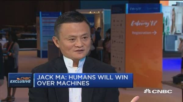 Jack Ma: Humans will win over machines