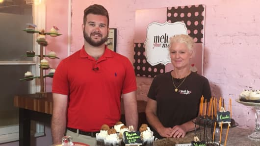 Michael and Julie Chambers are the mother-son team behind Melt in Your Mouth, a cupcake shop in Charlotte, N.C. They rank taxes as one of their top business issues.