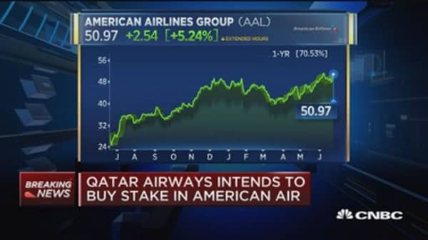 Qatar Airways intends to buy stake in American Air