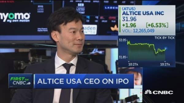 Altice usa ipo bookrunners
