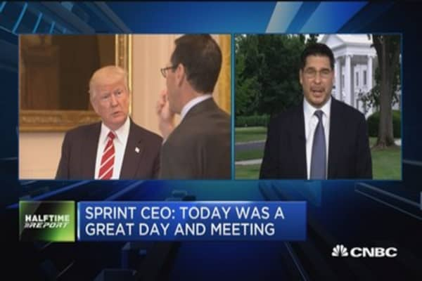 Sprint CEO: Trump was very open, understanding