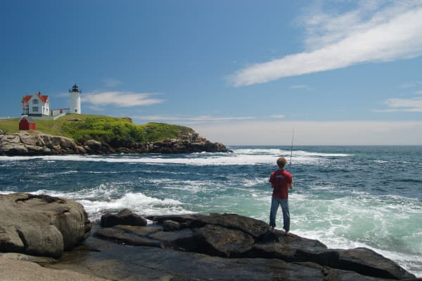 Nubble Lighthouse in Maine.