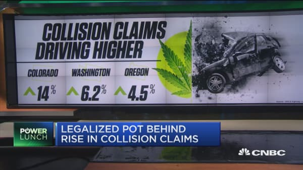 Legalized pot behind rise in collision claims