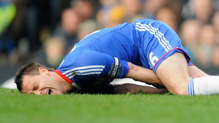 Athlete in pain