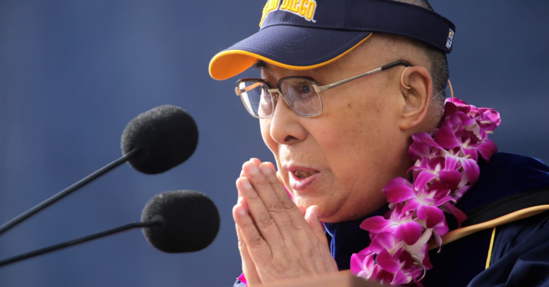 The Dalai Lama delivers the commencement address to the University of California-San Diego