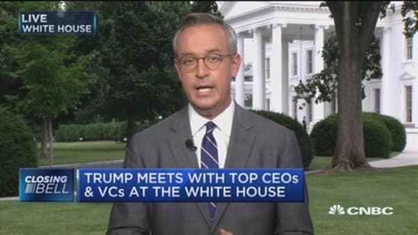 Trump praises top tech CEOs during tech summit