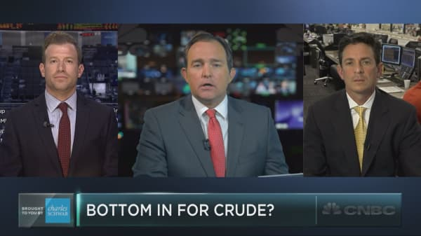 Is the bottom in for oil yet?