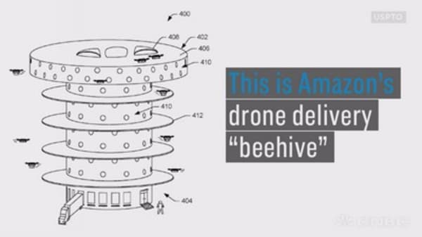 This giant Amazon beehive drone warehouse could pop up in your city someday