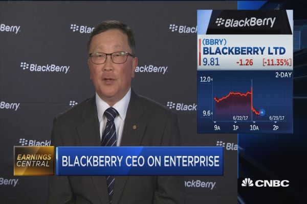 Blackberry CEO: We have a very commanding lead in the market for auto software