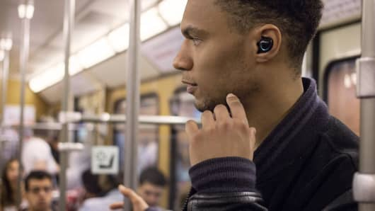 The Bragi Dash combines AI with sensors to provide user feedback. Handout: Bragi