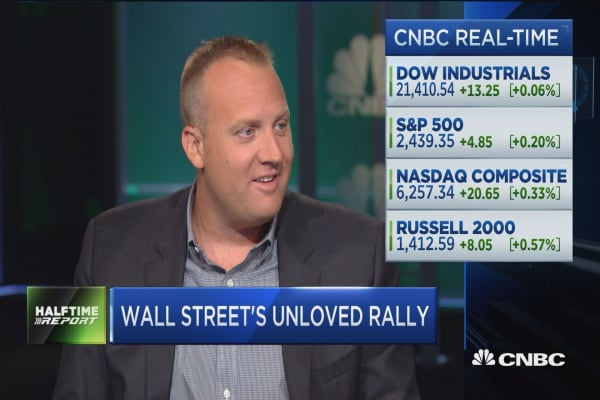 Josh Brown: Here's the reason Wall Street hates the bull market in stocks so much