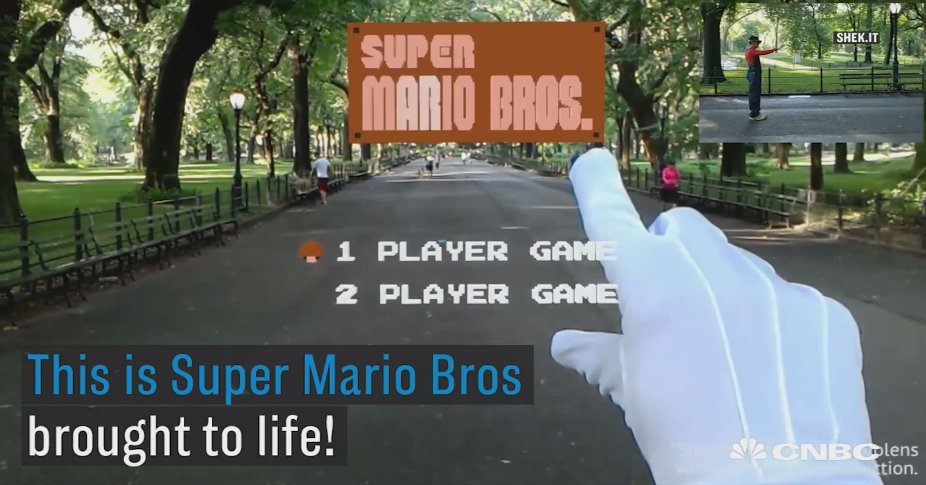Here's what it looks like to live in the first level of Super Mario Bros.